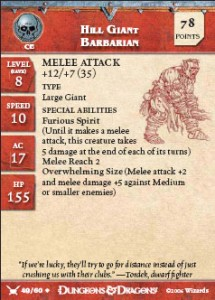 hill giant barbarian card